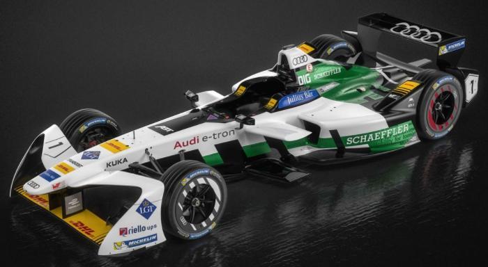 AUDI e-tron FE04 Formula E racecar debuts at Formula E Championship