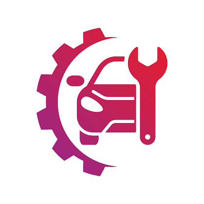 Auto service sign. Car repair logo. EPS 10